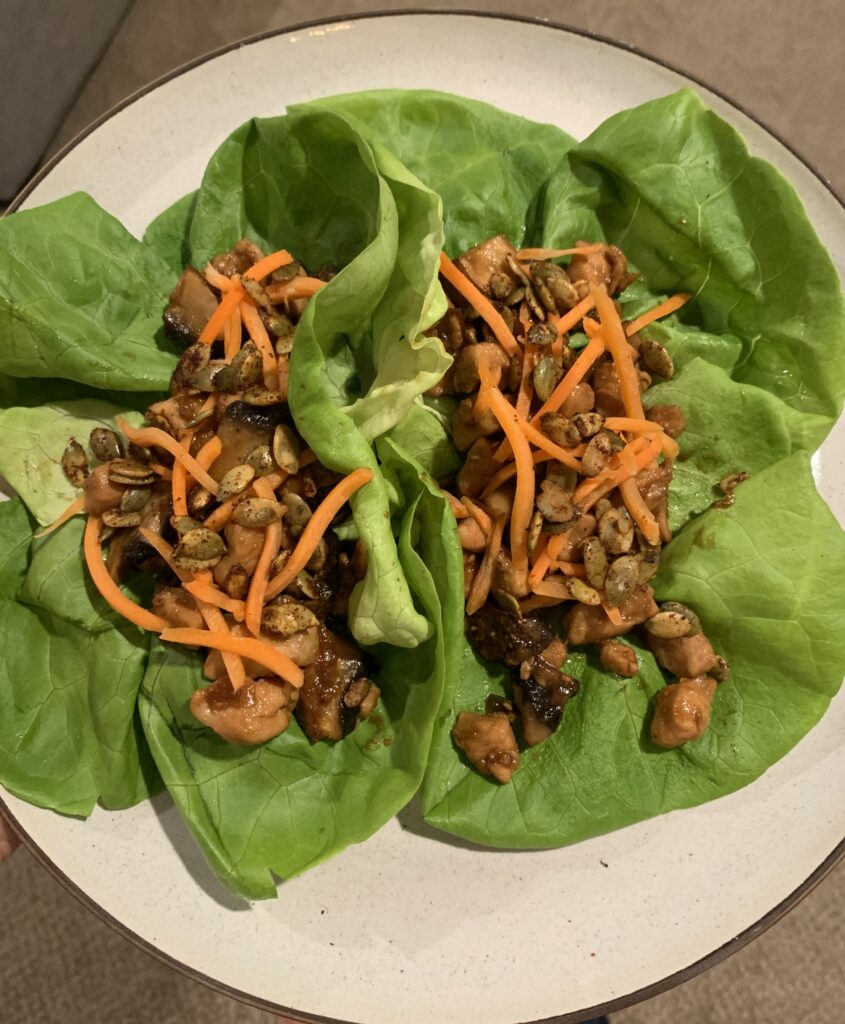 Spicy Chicken Lettuce Cups - Gluten Free!