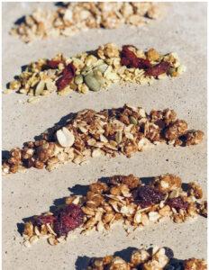 Healthy protein granola snacks