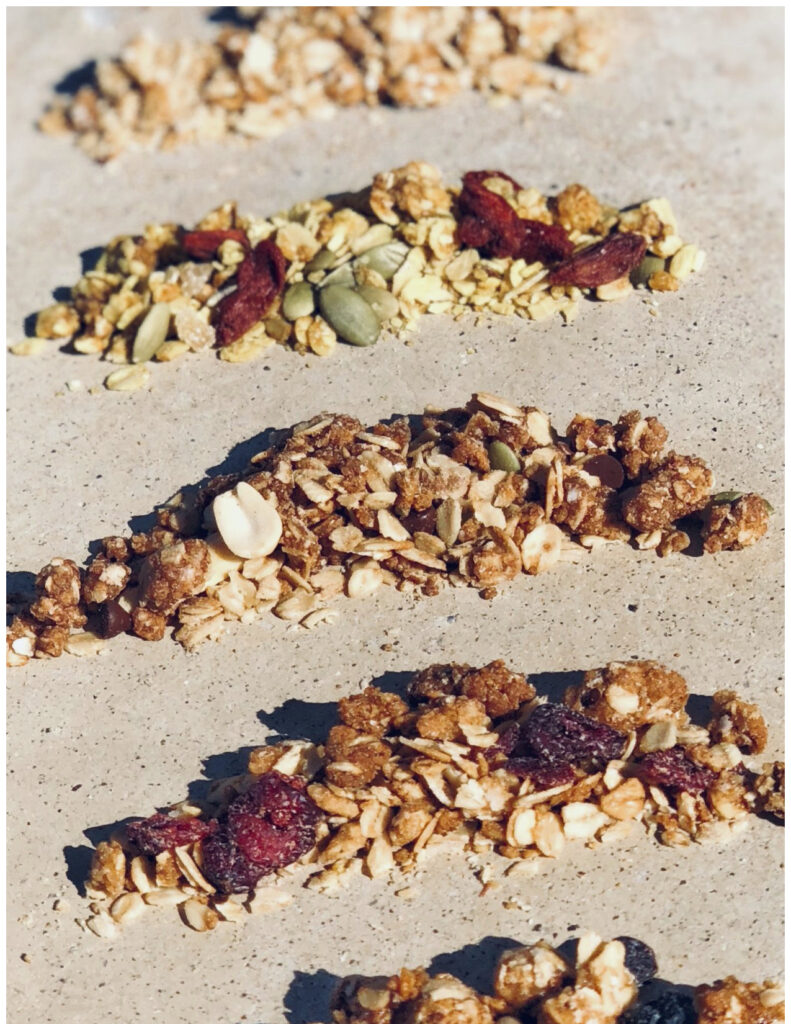 Healthy protein granola snacks