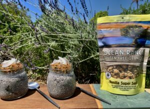 Gluten Free Vanilla Super Seed Chia Pudding for those with Celiac Disease